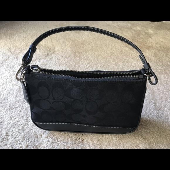 "Coach Handbags - Coach 8 1/2"" x 5 1/2"" patterned purse"